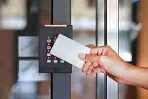 door access control with keycard